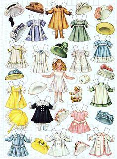 LETTIE LANE'S German Bisque Dolls Wardrobe Vintage Paper Dolls. Edwardian Printable Paper Dolls Digital Download.