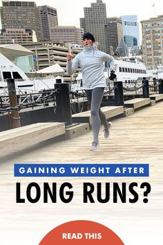 Why you might gain weight during marathon training or gain weight after long runs even though you're burning more calories! How To Run Faster, How To Run Longer, Running Tips, Beginner Running, Running Training, Weight Gain, Weight Lifting, Beginner Half Marathon Training, Half Marathon Motivation