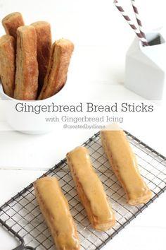 Gingerbread Bread Sticks @createdbydiane