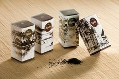 Andrew Gorkovenko for TripTea. Brilliant idea of using the actual tea to create images of the places the tea is grown! As a bonus, the long images wrap around each box to create a triptych when the same boxes are stood together. Lovely. And great texture!