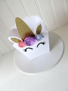 Favorece el Unicornio Favor caja decoraciones de fiesta de