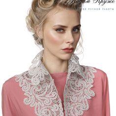 Lace Collar, Classy Dress, Dress Outfits, Dresses, Ruffle Blouse, Crochet, Tops, Women, Fashion