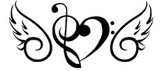 music note Wing Tattoo