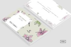Floral Pattern Business Card https://creativemarket.com/MeeraG/104504-Floral-Pattern-Business-Card #design #art #graphicdesign