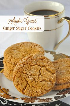 Auntie Crae's Ginger Sugar Cookies - a St. John's favourite! These are sort of a less intense ginger cookie but their flavour and texture is still excellent and they are still very, very addictive to ginger lovers.
