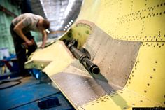 These Riveting Photos Show How Russia's Fullback Fighter-Bombers Get Built Fighter Pilot, Fighter Jets, Su 34 Fullback, Sukhoi, Spaceship Concept, Riveting, Mechanical Engineering, Tactical Gear, Military Aircraft