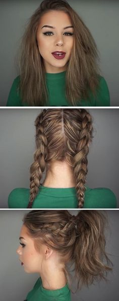 41 Lob Haircut Ideas For Women - How I Style My Short Hair | Long Bob -What is a lob? Step by step easy tutorials on how to cut your hair for a lob haircut and amazing ideas for layered, and straight lobs. Ideas for lobs with bangs, thick hair, wavy and thin hair. For long hair and medium hair. For round faces and sharp features - thegoddess.com/lob-haircut-ideas-women