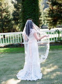 I love the length of this veil!