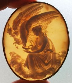 Old Victorian Cameo- Hebe Feeding the Eagle of Zeus, circa Italy :¦: Shell, Coral Victorian Jewelry, Antique Jewelry, Vintage Jewelry, Silver Jewellery, Cameo Jewelry, Body Jewelry, Fine Jewelry, Shells, Sculptures