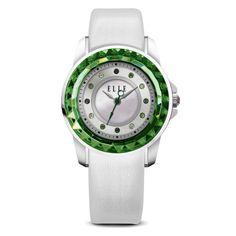 Small Size Green Faceted Bezel Watch – ELLE Time & Jewelry