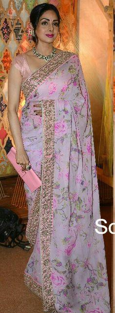 Sridevi in pink saree....