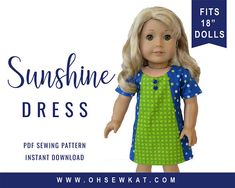 PDF Sewing Pattern for 18 inch American Girl ® Doll Clothes 0de9696f2