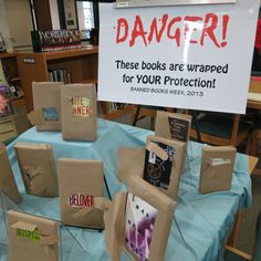 2013 Banned Books Week display at Beaufort High School in Beaufort, South Carolina