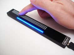 VMeter: USB MIDI Touch Strip Controller & Display. Can be used as volume control