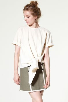 Claire Tie Front Blouse Discover the latest fashion trends online at storets.com