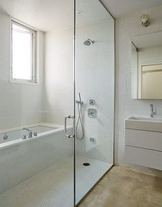 Mondern prefab Chicago live/work space by UrbanLab with mr steam shower and axor faucets in the bathroom