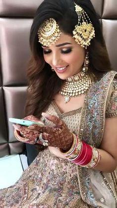 Indian Bride Dresses, Asian Bridal Dresses, Indian Bridal Outfits, Pakistani Outfits, Indian Wedding Video, Indian Wedding Gowns, Pakistani Bridal Jewelry, Indian Bridal Jewelry Sets, Tan Wedding