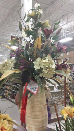 Tall floor vase, Plymouth Meeting Michaels Tall Floor Vases, Tall Vases, Large Vases, Large Flower Arrangements, Vase Arrangements, Vases Decor, Centerpieces, Ikebana, Flower Crafts