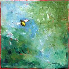 """Bee No. 4"" - Original Fine Art for Sale - © Sue Furrow"