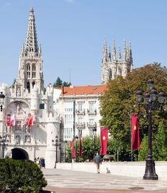 Gothic Cathedral and arc of Santa Maria in Burgos, Spain | Amazing Photography Of Cities and Famous Landmarks From Around The World Santa Maria, Best Vacation Spots, Best Vacations, British Overseas Territories, Gothic Cathedral, Old Churches, Famous Landmarks, Spain And Portugal, Medieval Castle