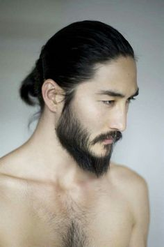 A smooth young face or beard? 2 How to make a fashionable beard? (as for japanese beard) 3 Celebrities and japanese beard. Japanese Men Hairstyle, Tony Thornburg, Hair And Beard Styles, Long Hair Styles, Face Reference, Asian Hair, Interesting Faces, Male Face, Character Inspiration