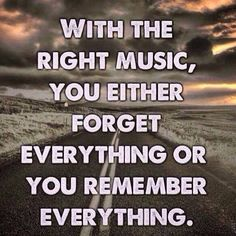With the right music...