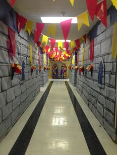 Sir Readalot's Castle for hallway, love the banners!