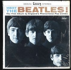 VINYL LP Beatles - Meet The Beatles / stereo / 1966 Capitol rainbow shrinkwrap