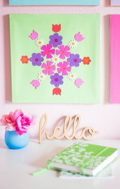 The Easiest DIY Canvas Art - Made With Flower Stickers!