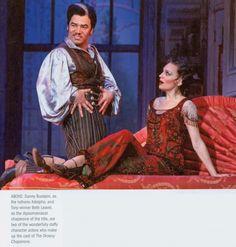 DANNY BURSTEIN as Adolpho charms chaperone BETH LEAVEL.