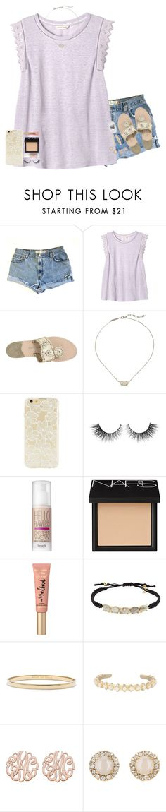 """•let me be the one to light a fire inside those eyes•"" by cfc-28-sc ❤ liked on Polyvore featuring Levi's, Rebecca Taylor, Jack Rogers, Kendra Scott, Forever 21, Rimini, Benefit, NARS Cosmetics, Too Faced Cosmetics and Tai"