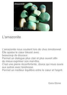 L'amazonite Take Care Of Me, Chakras, Stones And Crystals, Mystic, Zen, Yoga, Gemstones, Gardens, Marketing Plan