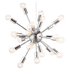 Pulsar Chrome 24 Light Ceiling Lamp