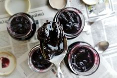 Black Cherry Jam with Pepper - Lemonade Concentrate – From Scratch Black Cherry Jam, Queso Feta, Tasty Kitchen, Recipe Community, Sour Cream, Fudge, Cookies Et Biscuits, Spicy, Vegetarian