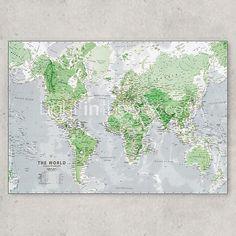 fluorescerende 60x86cm muur stickers romantiek kaart muur lichtgevende wereld…