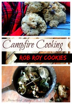 Campfire Cooking l Rob Roy Cookies l Homestead Lady Whole Food Recipes, Cookie Recipes, Dessert Recipes, Yummy Treats, Yummy Food, Homemade Desserts, Outdoor Cooking, Diy Food, Glam Camping