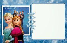 Frozen: Invitaciones para Imprimir Gratis.