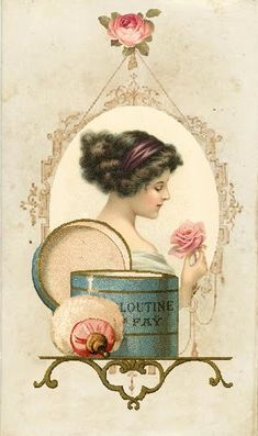 """Vintage """"Woman in a Mirror""""~Shabby Chic~Country Cottage style~Wall Decor Sign Decoupage Vintage, Éphémères Vintage, Images Vintage, Photo Vintage, Vintage Labels, Vintage Ephemera, Vintage Pictures, Vintage Cards, Vintage Paper"""
