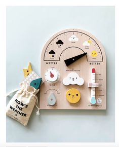Weather Station Toy You are in the right place about Montessori Toys handmade Here we offer you the Diy Sensory Board, Sensory Kids, Interactive Toys, Learning Toys, Kids Educational Toys, Wood Toys, Toys For Boys, Wooden Toys For Kids, Unique Kids Toys