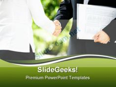 Handshake01 Business PowerPoint Template 0910 #PowerPoint #Templates #Themes #Background