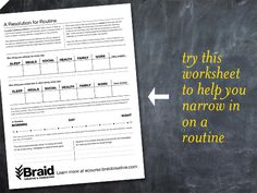Downloadable PDF: A Resolution for Routine