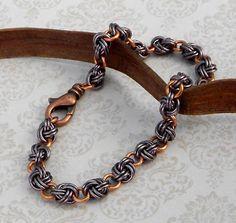 Knotted Chain Mail Bracelet | theBlueKraken - Jewelry on ArtFire