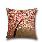 Flower Cotton Linen Pillow Case Waist Back Throw Cushion Cover Home Sofa Decor Vintage Pillow Cases, Vintage Pillows, Throw Pillow Cases, Throw Cushions, Linen Pillows, Linen Sofa, Floral Pillows, Sofa Throw, Linen Fabric