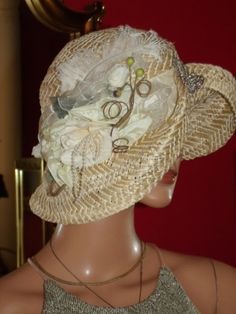 Flapper style hat Church Hat  Derby Flapper Hat by ludascrafts by therese