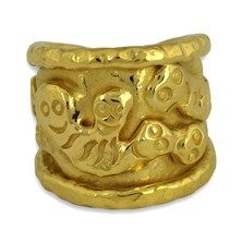 """Jean Mahie """"Charming Monsters"""" Ring in 22K Yellow Gold.  $1,795"""
