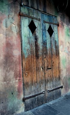 >if you could put steel behind these doors, to ensure anti-theft etc. City And Colour, Colour Colour, Preservation Hall, Castle Doors, When One Door Closes, Cool Doors, Rustic Doors, Painted Doors, Closed Doors