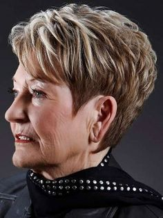 Elegant and Mature Short Hairstyles for Women Over 60: Short Hairstyles For Women Over 60 With Side Bangs – CarQuack
