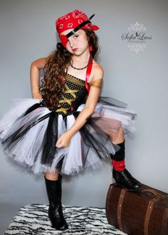 Sassy Girl PIrate Costume.....Lauren wore a pirate princess costume similar to this when she was 4