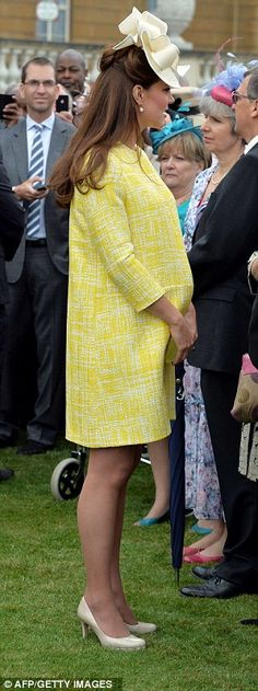 With just under two months to go until her estimated due date, Kate looked pretty in a cocoon-cut Emilia Wickstead coat that accentuated her growing bump. May 22, 2013