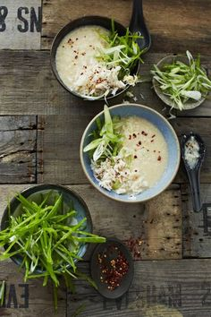 Bill Granger's miso rice soup with crab